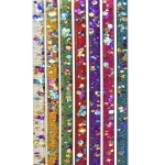 Retro Wands Dots & 4-point Star Glitter